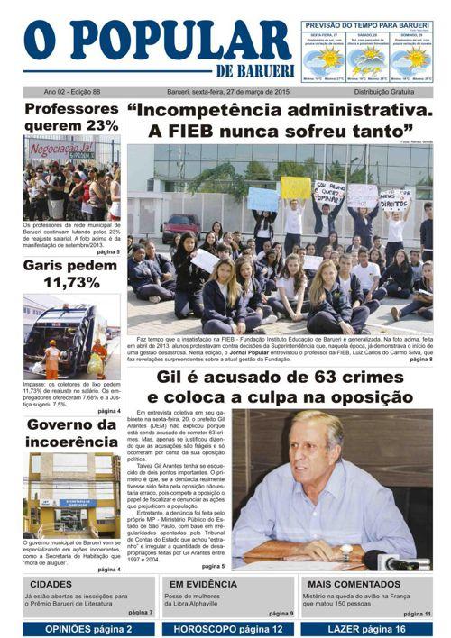 88ª edição do Jornal Popular de Barueri