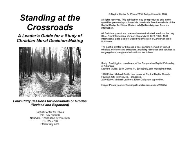 Standing at the Crossroads: Leader Guide Preview