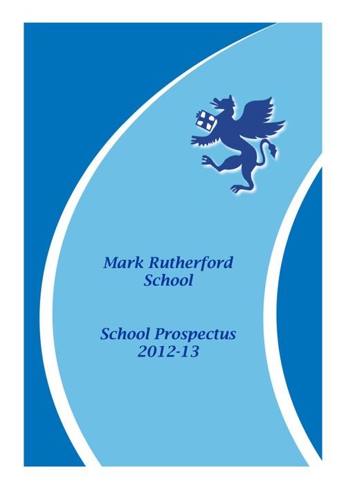 Mark Rutherford Prospectus 2012/2013