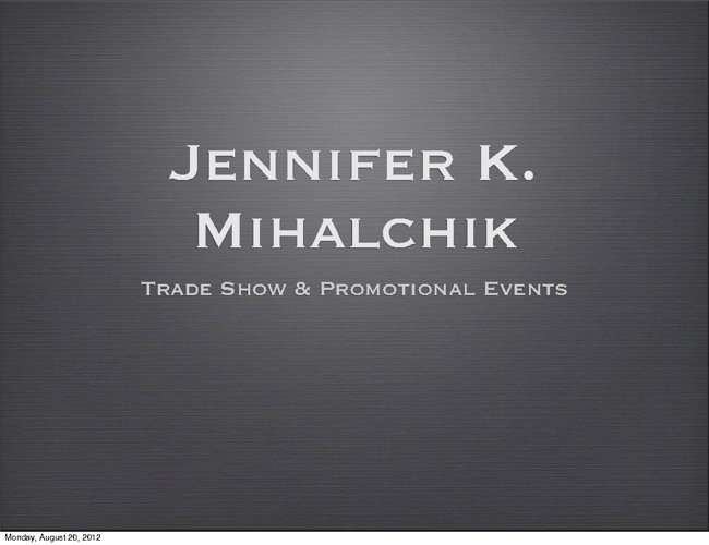 Trade Show + Promotional Events | JKM