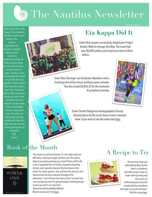 Nautilus Newsletter Edition 1