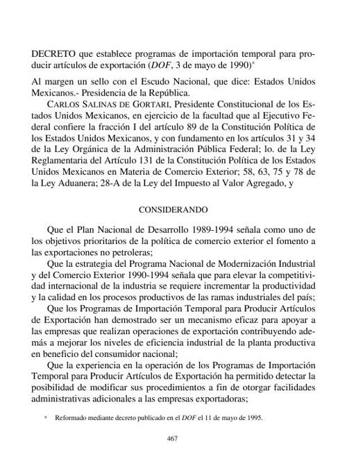 DECRETO DE IMPORT TEMPORAL AX10