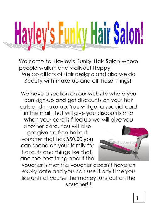 Hayley's Funky Hair Salon!