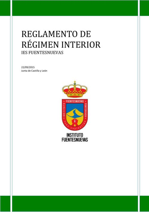 2015 Reglamento de Régimen Interior