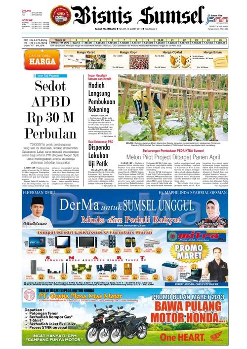 Radar Palembang Edisi 19-03-2013 Koran 2