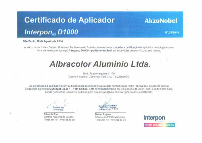 Certificado Akzo