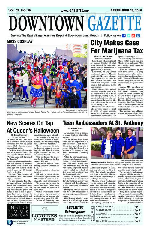 Downtown Gazette  |  September 23, 2016