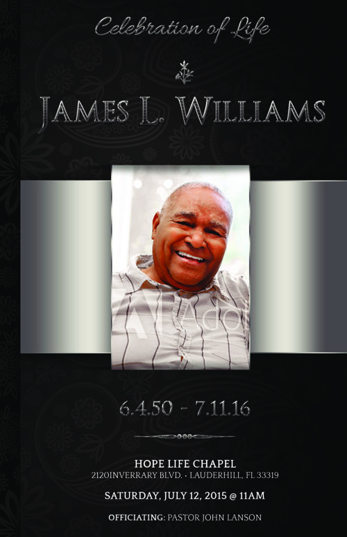 Black Dignity Funeral Program Template