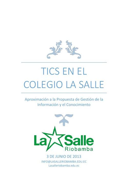 Gestión de la Información en el Colegio La Salle Riobamba
