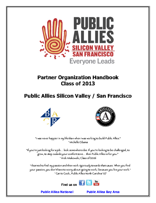 Partner Organization Handbook 2012-2013