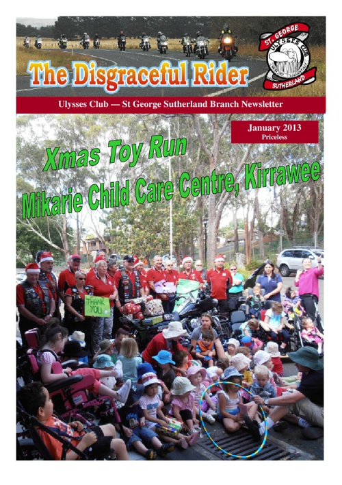 The Disgraceful Rider January 2013