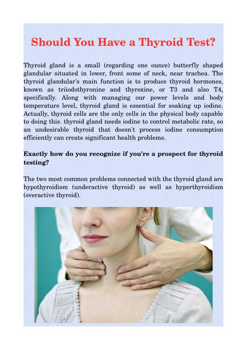 Should You Have a Thyroid Test