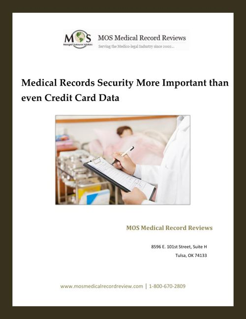 Medical Records Security More Important than even Credit Card Da