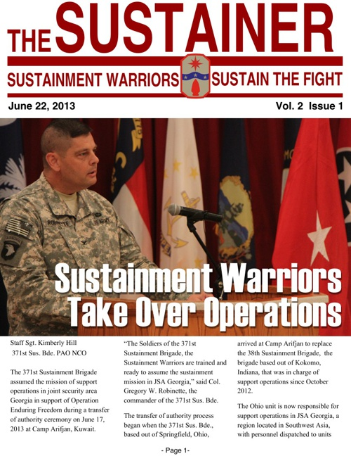 The Sustainer Vol. 2 Issue 1