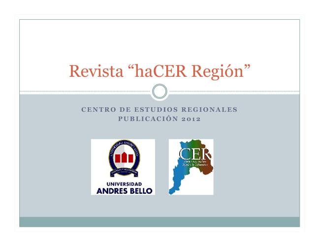 ORGANIZACIÓN REVISTA HACER REGION