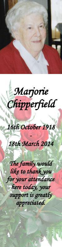 Bookmark for Marjorie Chipperfield