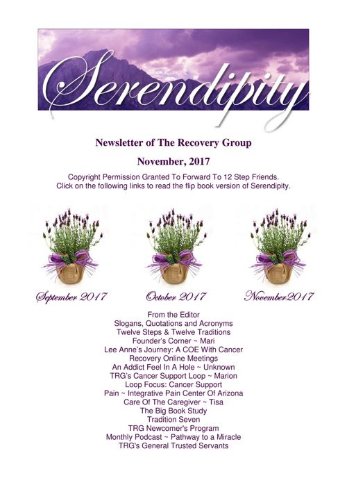 10 Serendipity ~ October 2017