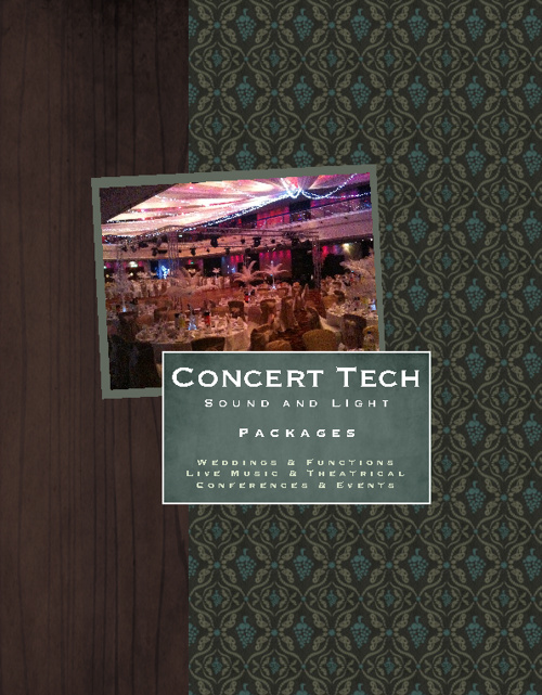 Concert Tech July 2012 Packages Brochure