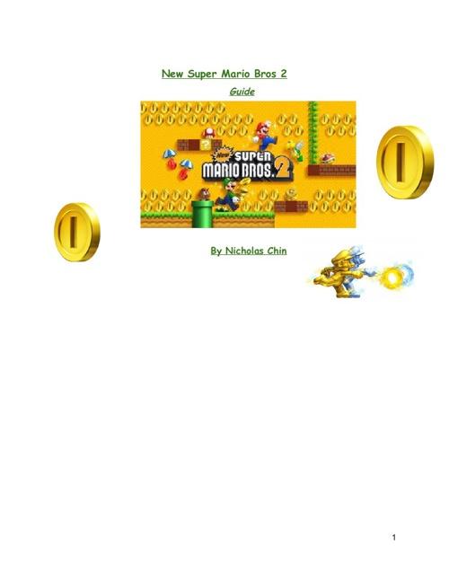 New Super Mario Bros 2 Guide-Nicholas