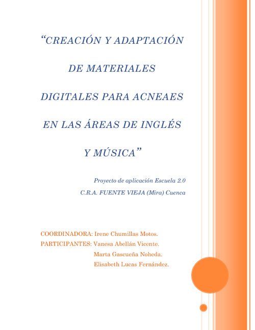 CREACIÓN Y ADAPTACIÓN DE MATERIALES DIGITALES PARA ACNEAES EN LA