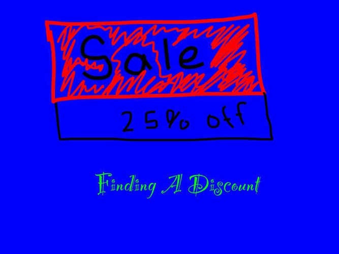 Finding a Discount by Geoffrey G.