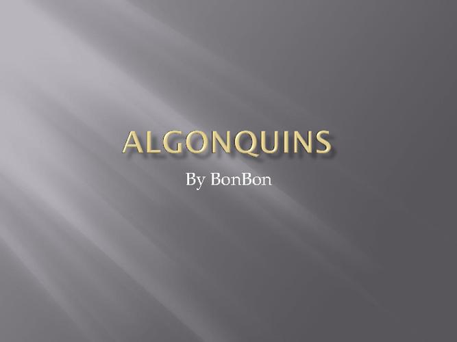 Algonquins 571461