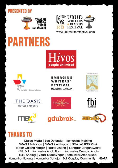 2013 Bali Emerging Writers Festival Program
