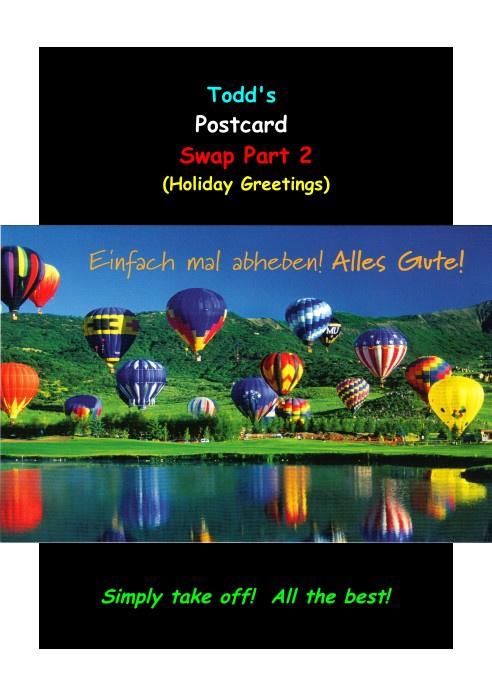 Copy of Todd's Global Postcard Swap Part II - 2013