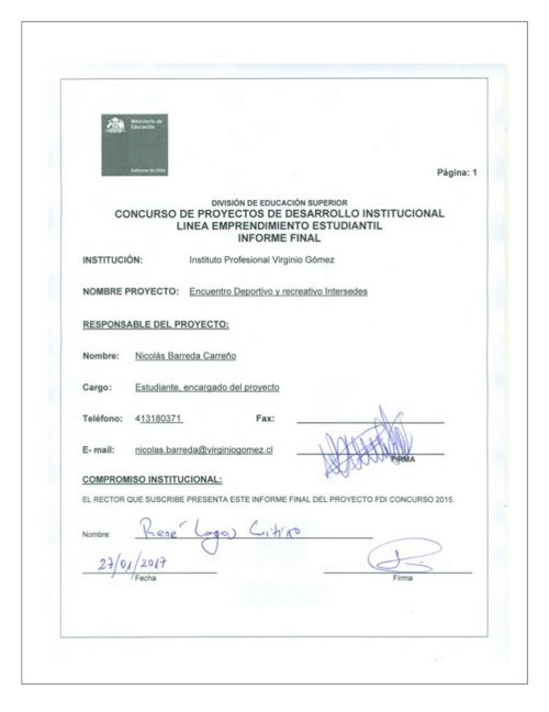 Proyecto Deportivo Intersedes DVG1503