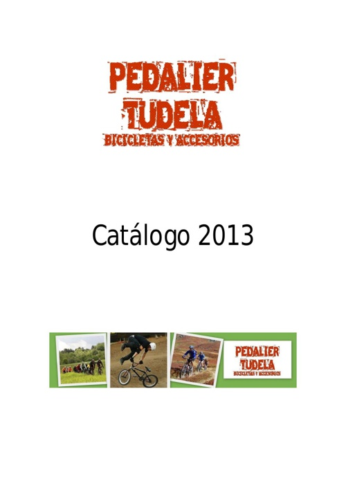 Catálogo Pedalier Tudela