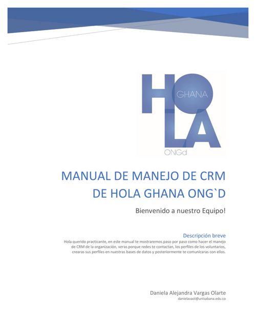 Manual CRM Hola Ghana