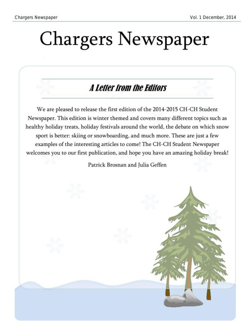 14-15 Chargers Newspaper
