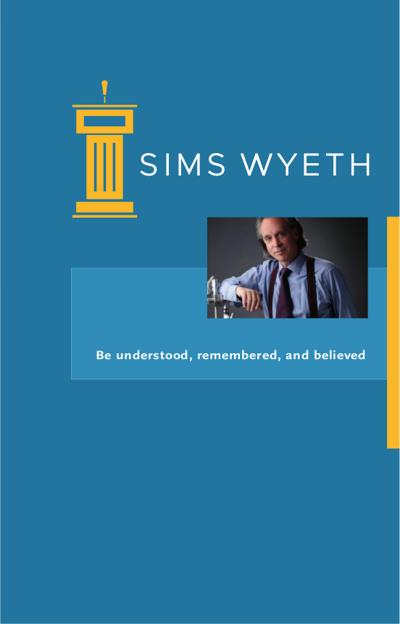 Executive Presentation Coach NJ, NY, CT Sims Wyeth & Co.