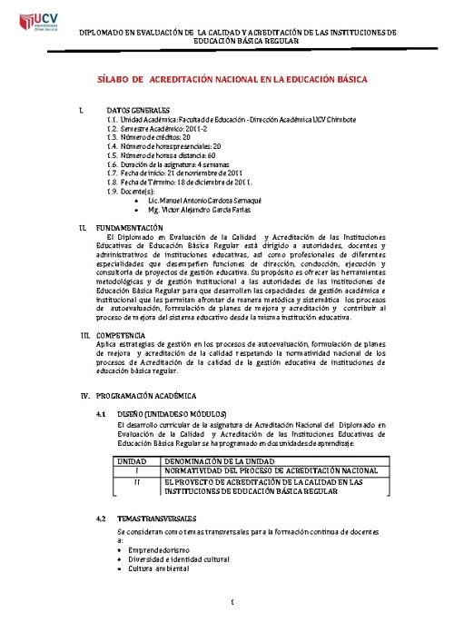 ACREDITACION I.E. DEL PERU