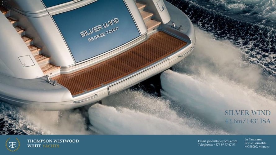 Silver Wind 44m 140' ISA Yachts Jan 2018