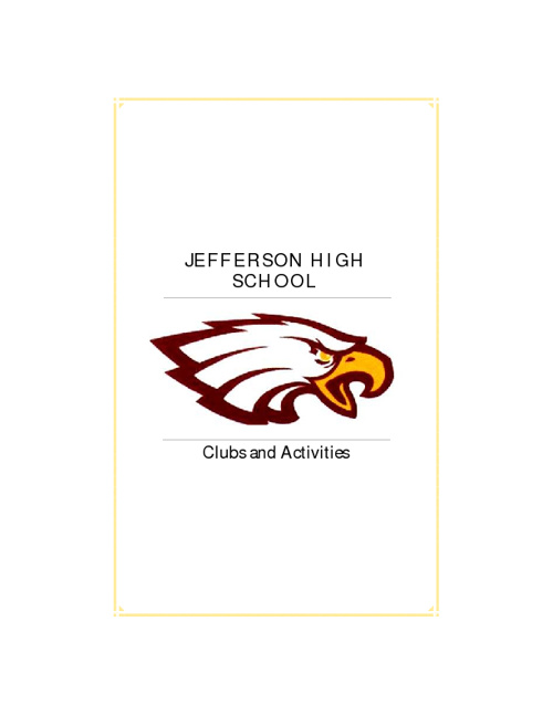Jefferson Clubs and Activities