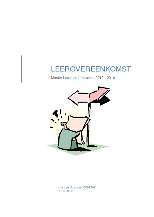 LEEROVEREENKOMST