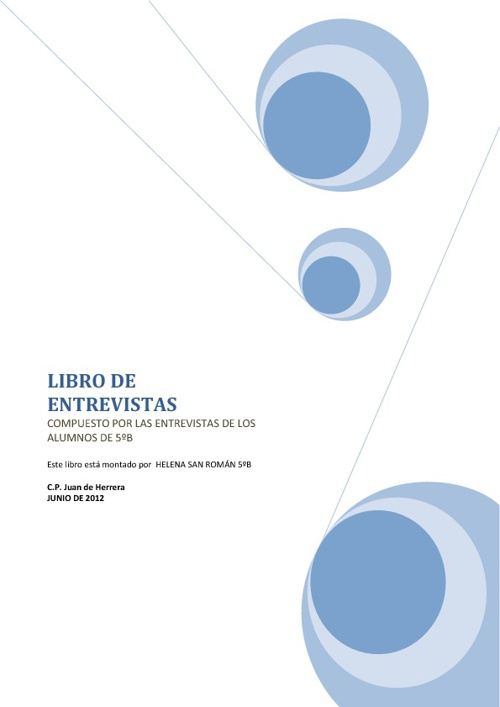 LIBRO DE ENTREVISTAS 5ºB CURSO 2012