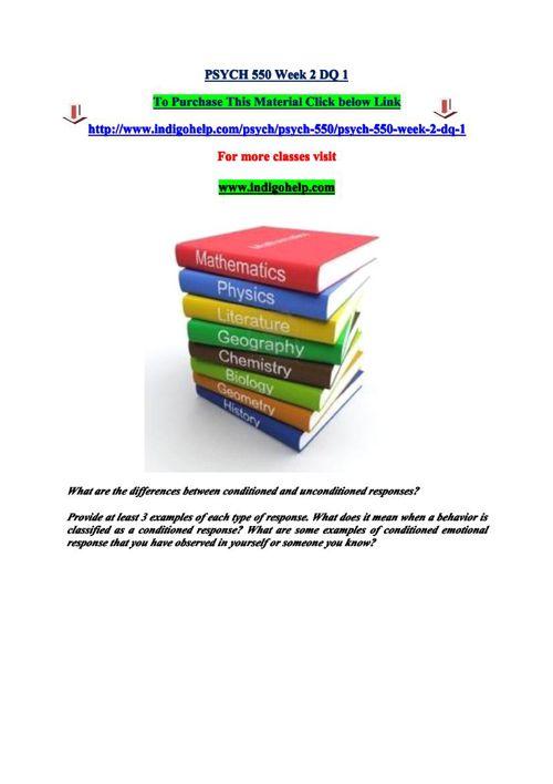 PSYCH 550 Week 2 DQ 1