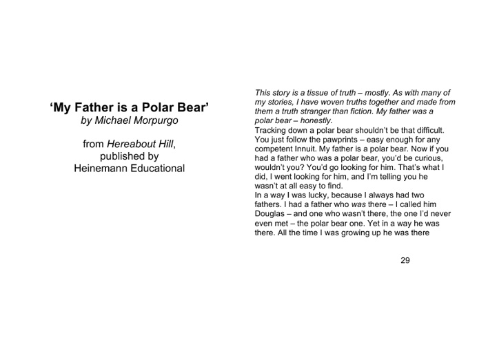 My Father is a Polar Bear