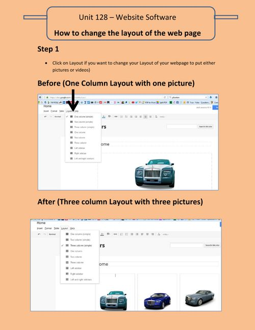 How to change layouts of page