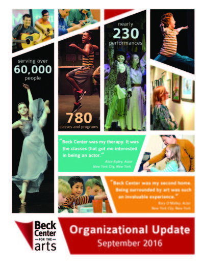 Beck Center for the Arts Organizational Update