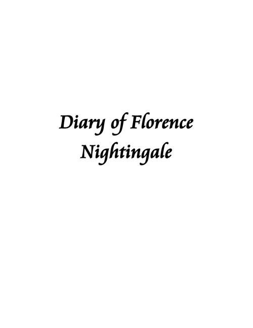 Diary of Florence Nightingale