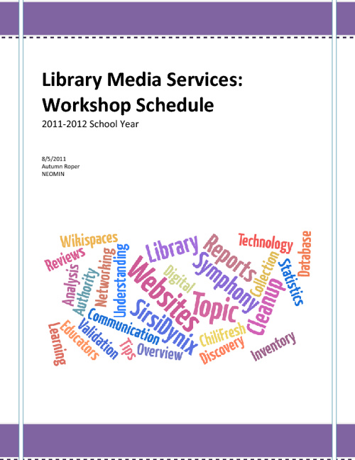 2011-2012 NEOMIN Library Workshop Schedule