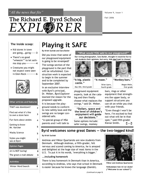 Fall 2006 - Playing it SAFE