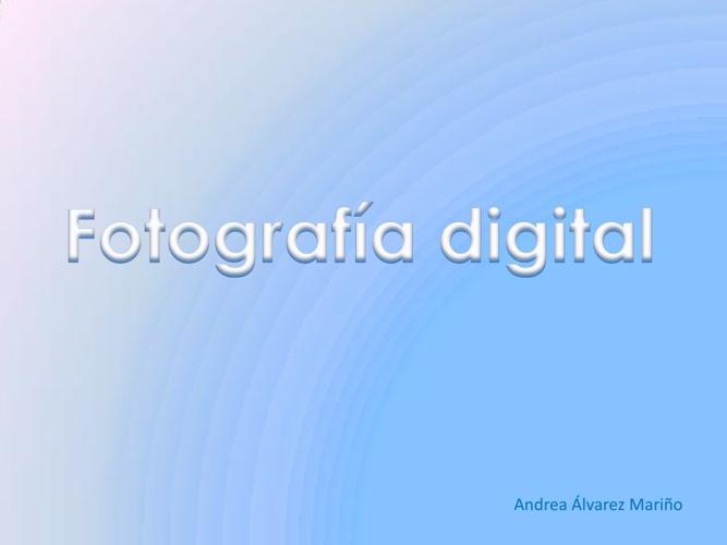 Tema 3; Fotografía Digital