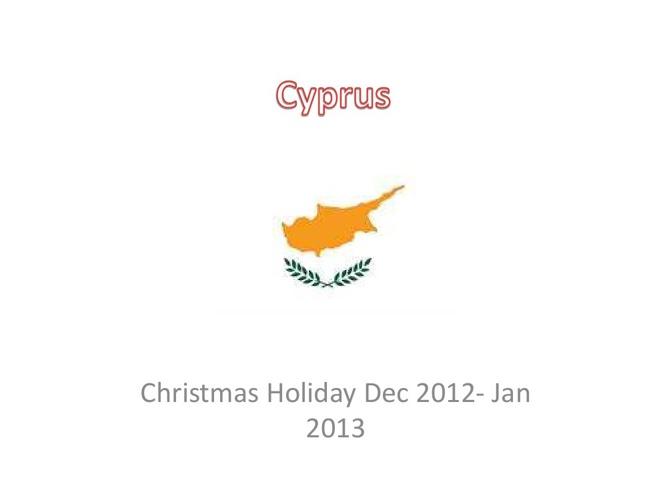 Cyprus Christmas 2012-13