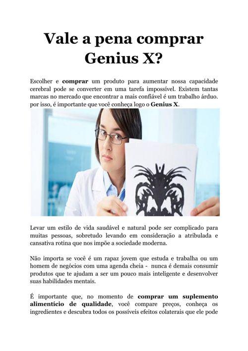 Vale a pena comprar Genius X?