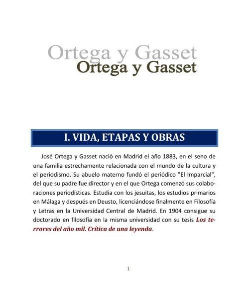 Ortega - Apuntes