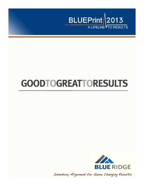 Good to Great Booklet  2013